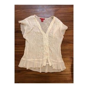 Beautiful white decorative blouse